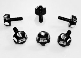 FLAT SCALLOP GSXR WINDSCREEN FAIRING SCREWS 6 PACK