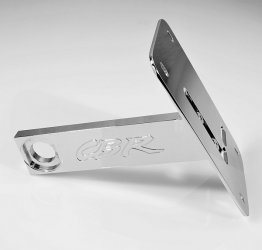 CBR 600RR 05-16 HORIZONTAL VERTICAL LICENSE PLATE TAG RELOCATOR BRACKET
