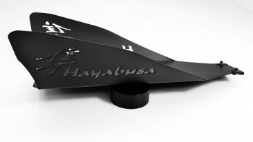 99-07 GSX1300R HAYABUSA LOWER BELLY PAN WING KANJI